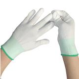 セリウムが付いている13Gによって編まれる上塗を施してある白PU保護作業手袋