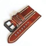 Cintas de relógio de alta qualidade do couro genuíno do vintage