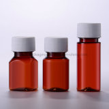 Plastikhaustier-Flasche der Medizin-200ml mit Plastikschutzkappe
