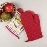 Küche-Backen-Zoll gedruckte Baumwollmikrowellen-wärmeschützende Ofen-Handschuhe