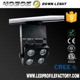 Lampe d'éclairage de piste de cuisine de DEL, appareil d'éclairage industriel de piste de type de plugin en bronze DEL