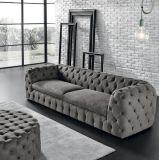 Retro sofà di tela del tessuto di Chesterfield (F720-9-2)