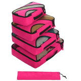女性のFoldableオルガナイザー4セットの豪華な旅行記憶の洗面用品袋