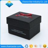 Imprimé en noir mat de papier personnalisé boîte cadeau en carton