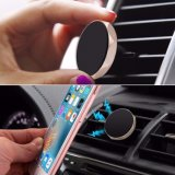 Universale che gira il mini supporto mobile magnetico portatile dell'automobile del supporto del basamento del telefono delle cellule del cunicolo di ventilazione