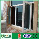 Revestimiento de polvo de aluminio color blanco de Casement Ventana para uso comercial y residencial
