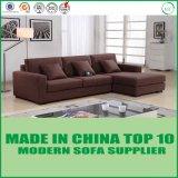 Софа ткани комнаты Brown современной домашней мебели живущий с фаэтоном