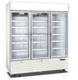서리 슈퍼마켓을%s 자유로운 유리제 문 냉동 식품 전시 냉장고