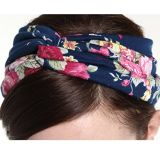 Women를 위한 탄력 있는 Printed Head Wrap Stretchy Moisture Hairband