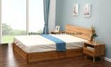 Cama de madera maciza modernas camas dobles (M-X2334)