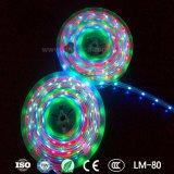 Beste Prijs 60 LEDs per Meter gelijkstroom 12V Waterdichte SMD 5050 het Flexibele RGB LEIDENE Licht van de Strook