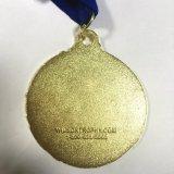 Médaille de thème d'étalage d'automne d'or avec la lanière bleue