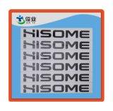 Etiqueta adhesiva de la etiqueta engomada de encargo del metal de la alta calidad