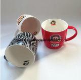 Al por mayor de café barato Copa nuevo hueso China de forma cónica con la taza de la etiqueta