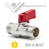 F/M латунь шаровой клапан с алюминиевыми рукоятку (EM-V-B167)