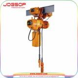 1ton het elektrische Hijstoestel van de Keten van het Type van Karretje Elektrische