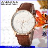 Wristwatch повелительниц кварца кожаный планки ODM вскользь (Wy-081B)