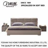 Кровать самомоднейшей конструкции с кожаный крышкой для мебели G7003 спальни