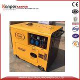 5.5kw 6kwの空気によって冷却されるおおいのタイプ空気によって冷却されるディーゼル発電機セット