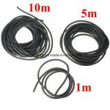 2x5mm negro de látex natural de la banda de goma flexible de Tubos tubo elástico