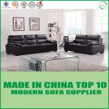Schnittwohnzimmer-italienisches modernes weißes Leder-Sofa-Set
