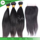 最上質のまっすぐなバージンのブラジルの毛の織り方の人間の毛髪