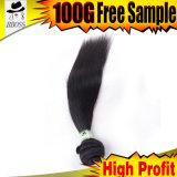 Естественные типы прямых волос продуктов волос 6A индийских Remy