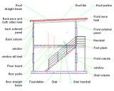 Ufficio prefabbricato prefabbricato del pannello a sandwich di disegno moderno
