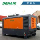Compresseur d'air rotatoire monté par camion entraîné par moteur diesel de vis
