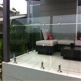 Балюстрада Tempered стекла Frameless с Spigots нержавеющей стали