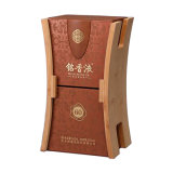 새로운 디자인 단단한 나무로 되는 PU 가죽 포장 포도주 상자