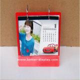 Suporte do calendário de plástico acrílico personalizada