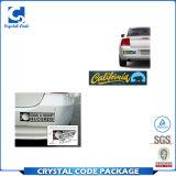Material de PVC Etiqueta paragolpes desmontables para auto