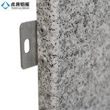 Panneau en aluminium personnalisé de modèle avec le finissage en pierre
