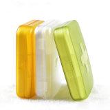 6 células de plástico portátil viajar Pildorero coloridos colores