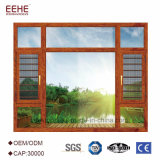 Remplacement en aluminium économique Windows double Windows coulissant glacé