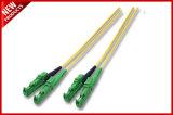 3.0mm het Gele LC aan LC OS2 Singlemode Jasje van het Koord LSZH van de Kabel van de Vezel Optische