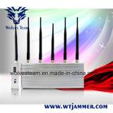 Brouilleur de téléphone cellulaire de 5 antennes avec à télécommande (3G, GM/M, CDMA, DCS)