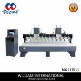 Máquina de trabalho de madeira do CNC da maquinaria do CNC da gravura (VCT-1513W-4H)