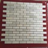 Китайский белый мрамор мозаика плитка для ванной комнаты