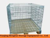 Envase de almacenaje plegable y amontonable del acoplamiento de alambre para el almacén