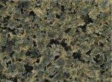 lastra verde del granito di 3cm per le mattonelle di pavimentazione del granito del controsoffitto/scala poco costose
