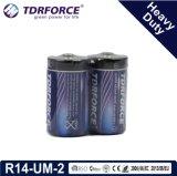 煙Detetorのための中国の工場極度の頑丈な乾電池(LR14-Cは2)サイズである