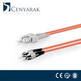 Sc au cordon de connexion à plusieurs modes de fonctionnement de la fibre Om2 de duplex de FC
