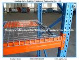 Decking galvanizado do engranzamento de fio para a cremalheira da pálete do armazenamento