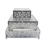 Rectángulo de joyería de cristal del almacenaje de encargo con estilo de lujo de la insignia (JB-1165C)