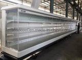 La venta al por menor refrigeró las cajas de visualización, cabinas de visualización refrigeradas de la carne