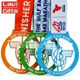 試供品の昇進のカスタム金属の柔らかいエナメル3Dのマップメダル