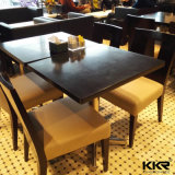 Белый квадрат обедая твердая поверхностная верхняя часть обеденного стола для гостиницы