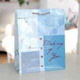 Überzogenes Papier-Grün-Blumen-und Basisrecheneinheits-süsser Süßigkeit-Einkaufen-Geschenk-Beutel